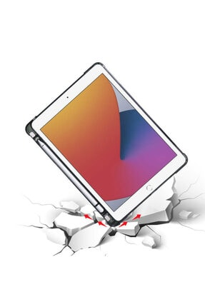 carına vannı Apple Ipad 9.7 2018 Uyumlu Siyah,kalem Bölmeli Katlanabilir Tablet Kılıfı,standlı Kılıf Pnd 2