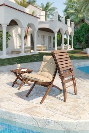 Meya Dekor Minderli Bahçe Balkon 2+1 Katlanabilir Masa Sandalye Seti 1