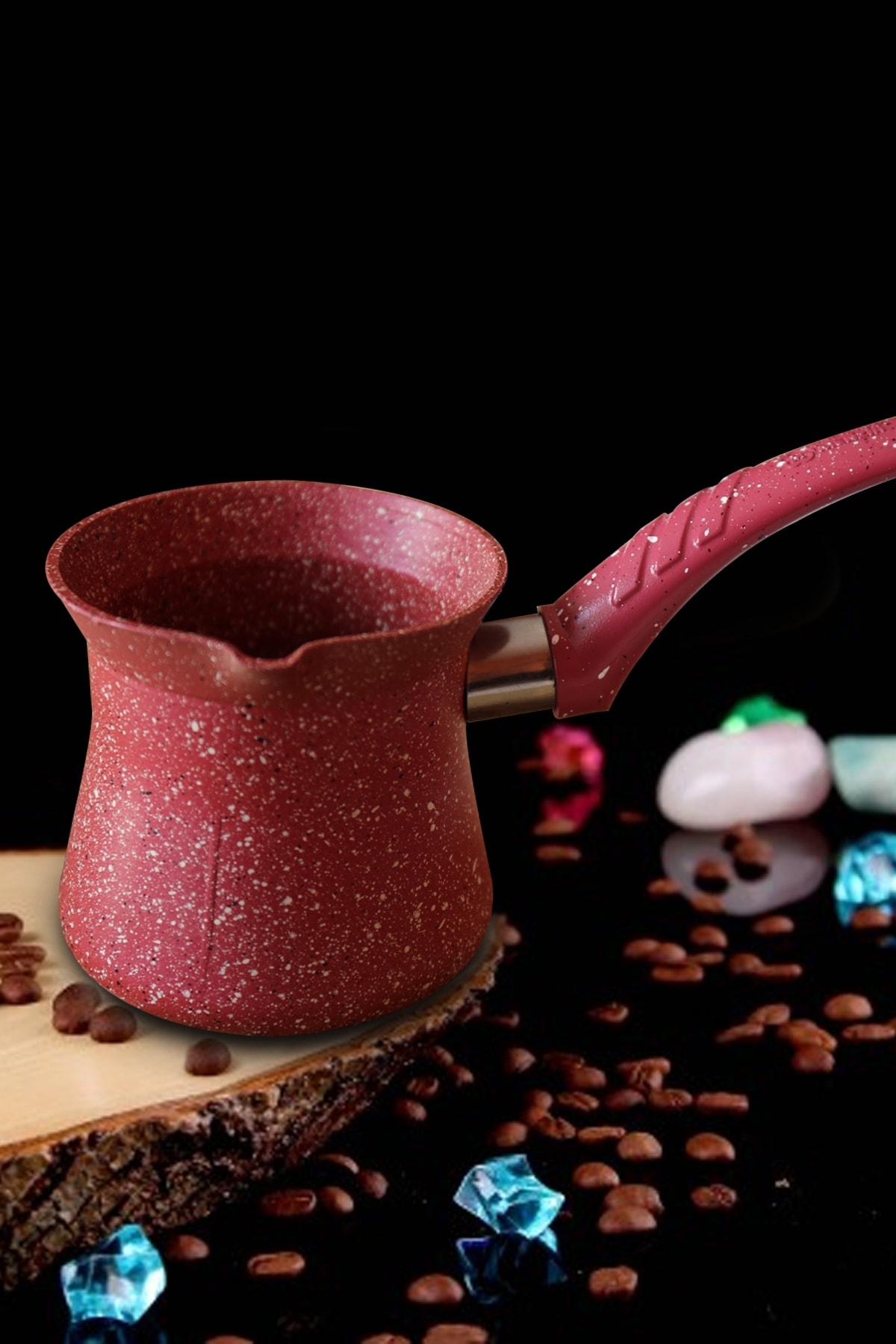 san Şan Granit Cezve Kırmızı Granit Sütlük - No:6 - 700 ml