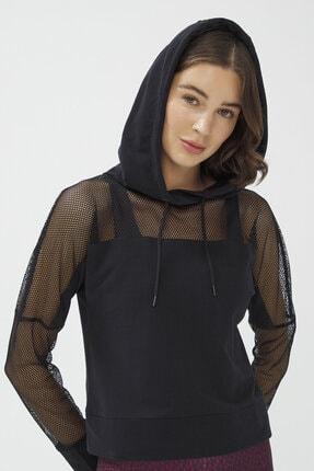 Penti Siyah Fishnet Detailed Sweatshirt 1
