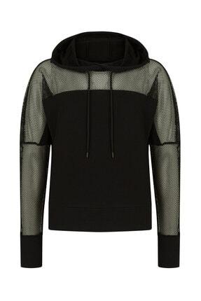 Penti Siyah Fishnet Detailed Sweatshirt 4