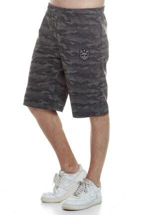 Tena Moda Erkek Antrasit Kamuflaj Şort 1
