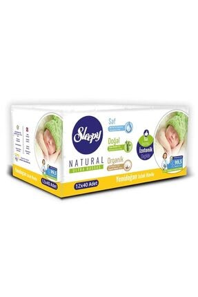 Sleepy Islak Havlu Fırsat Paketi 12 Pk Yenidoğan+ 12 Pk Devam Havlusu +12 Pk Doğal Organik Pamuklu 1