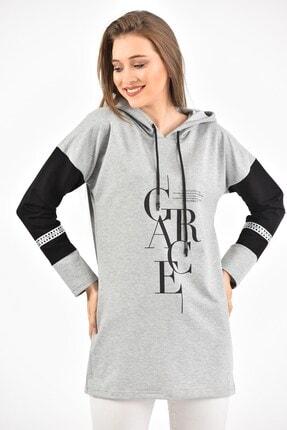 BURRASCA Grace Baskılı Kol Detaylı Kapüşonlu Sweatshirt 2