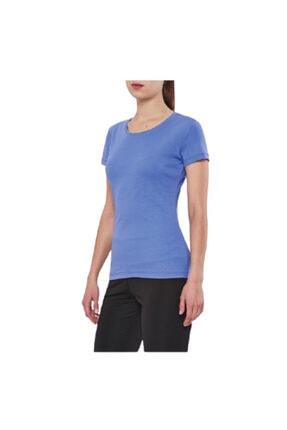 15s-2210 Eflatun Penye Bayan T-shirt resmi