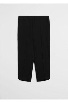 Mango Kadın Siyah Kısa Paçalı Dar Kesim Pantolon 2