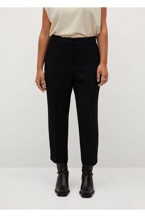 Mango Kadın Siyah Kısa Paçalı Dar Kesim Pantolon 3