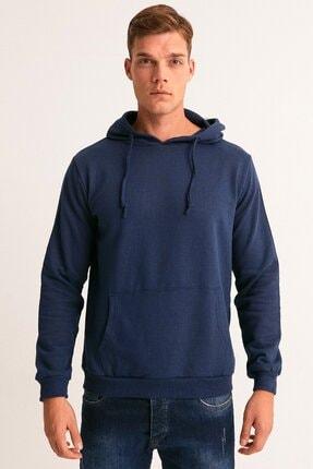 Fullamoda Erkek Lacivert Kapüşonlu Sweatshirt 2