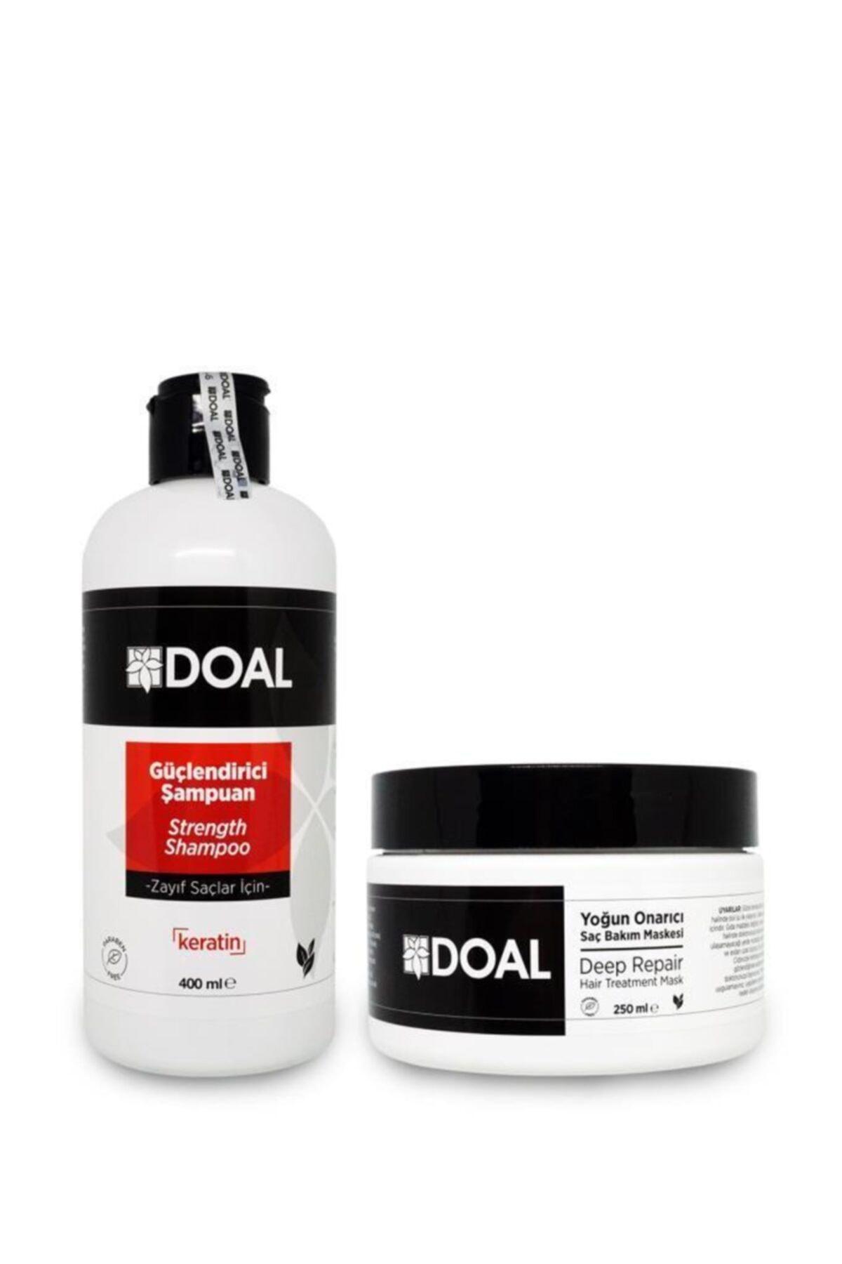 Zayıf Saçları Güçlendirici Keratin Şampuan 400ml+ Onarıcı Maske Keratin&argan 250ml