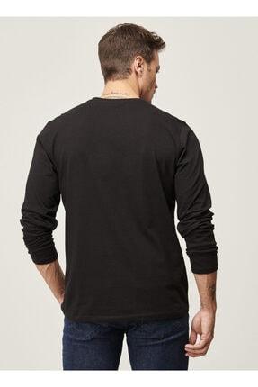 Altınyıldız Classics Erkek Siyah Standart Fit Günlük Rahat Bisiklet Yaka Spor Sweatshirt 3