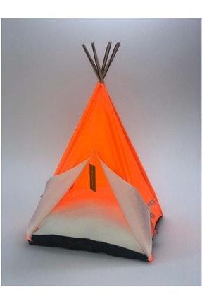 Bedspet Kedi Çadırı Büyük Fosforlu Turuncu. 60x60x80 Cm 0