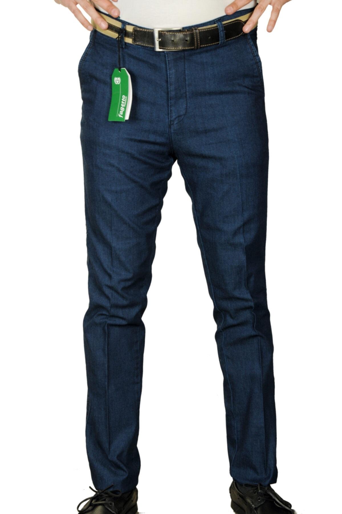 Tensel Kot Esnek Likralı Pamuklu Classic Erkek Keten Pantolon