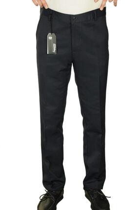 Erkek Lacivert Saten Armürlü Pamuklu Desenli Regular Pantolon fgt8000