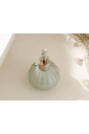 English Home Royal Cam Banyo Sıvı Sabunluk 9x9x13,5 Cm Gri 1