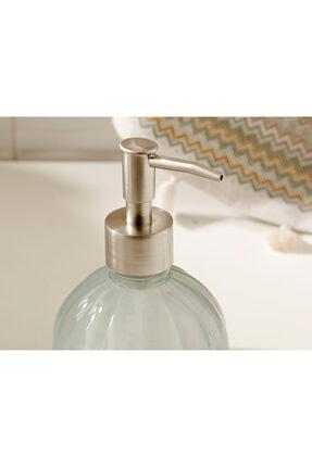 English Home Royal Cam Banyo Sıvı Sabunluk 9x9x13,5 Cm Gri 2
