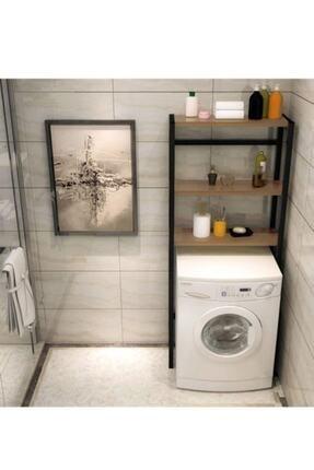 Elit Çamaşır Makinesi Üstü Düzenleyici Raf Banyo Dolabı Rafı Makina Üstü Dolap Raf Ceviz 2
