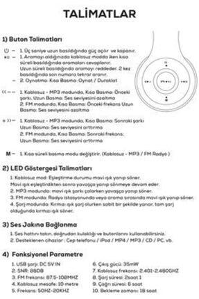Zore Kulak Üstü Fm Radyolu Led Işıklı Bluetooth Kulaklık Btk-zr56 1