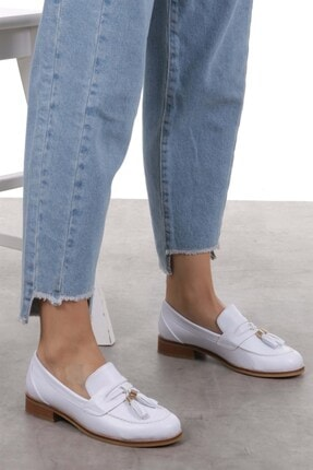Mio Gusto Dylan Beyaz Oxford Ayakkabı 1