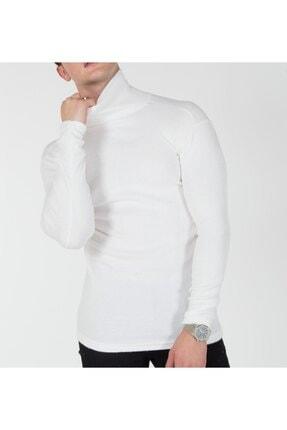 TREND YAŞAR Trend Erkek Beyaz Boğazlı Triko Kazak 2