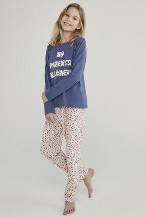 Penti Lacivert - Pembe Teen Leopard 2li Pijama Takımı 0