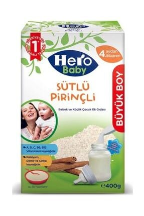 Hero Baby Sütlü Pirinçli Kaşık Maması 400 gr 0