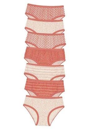 Penti Çok Renkli Kız Çocuk Pattern 7li Slip Külot 0