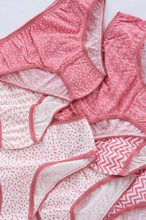 Penti Çok Renkli Kız Çocuk Pattern 7li Slip Külot 1