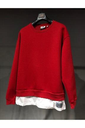 GOBACK7 Unisex Kırmızı Detay Basic Tshirt 0