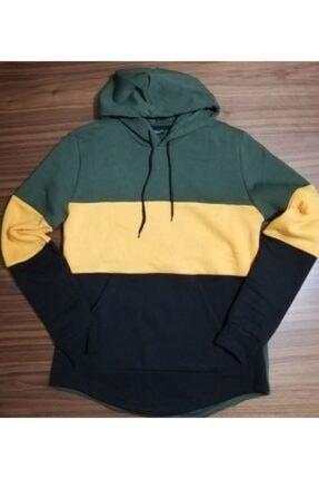 URBA GİYİM Üç Renk Kapüşonlu Sweatshirt 1