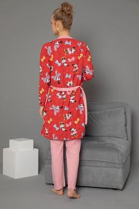 Strawberry 3'lü Set Hamile Sabahlık-pijama Takım 1