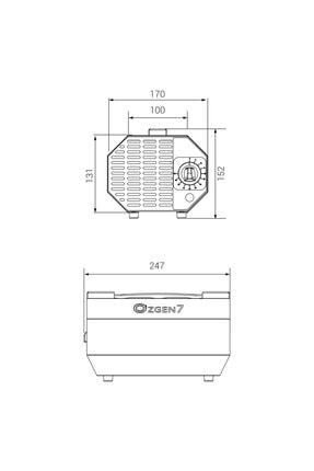 Fiberli Ozon Jeneratörü - Hava Dezenfeksiyon Temizleme Sterilizasyon - Ozon Üretimi 7000 Mg /saat 2