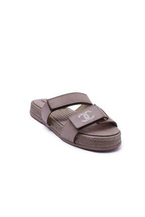 Espardile Kadın Kahverengi Taşlı Sandalet 2