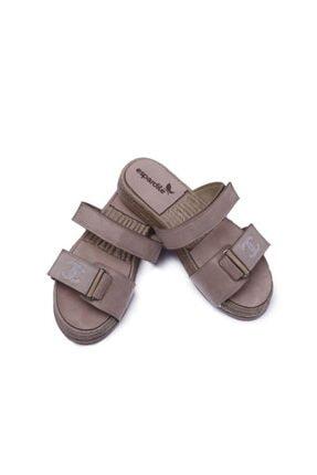 Espardile Kadın Kahverengi Taşlı Sandalet 3