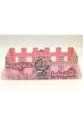 vipparty Hoşgeldin Bebek Karton Çit Sepet Pembe 35cm 0