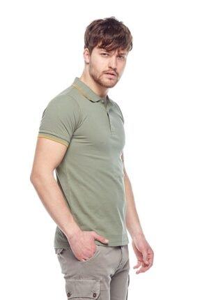 Tena Moda Erkek Açık Haki Polo Yaka Tişört 4