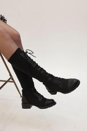 Marjin Kadın Siyah Günlük Çorap Postal Çizme 3