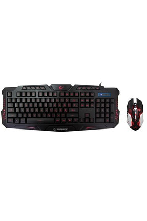 Rampage Km-r77 Black Usb 3 Color Led Lc Layout Multimedia Gaming Keyboard + Mouse Set 0