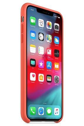 Ebotek Iphone Xs Max Kılıf Silikon Içi Kadife Lansman Turuncu 1