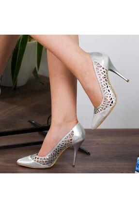 Adım Adım Gümüş Stiletto Yüksek Topuk Abiye Gelin Kadın Ayakkabı • A182ysml0011 0