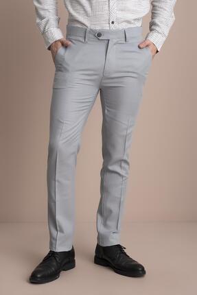 Tena Moda Erkek Gri Viskonlu Keten Pantolon 2