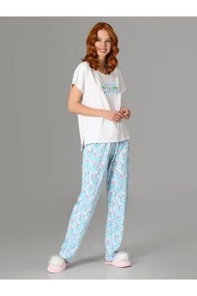 Nbb Love Flamingo Kadın Pijama Takımı 66728 1