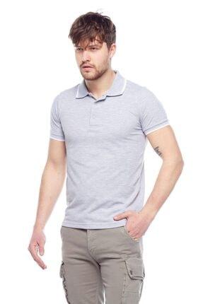Tena Moda Erkek Gri Melanj G-1 Polo Yaka Tişört 1
