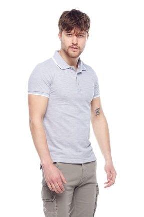 Tena Moda Erkek Gri Melanj G-1 Polo Yaka Tişört 2