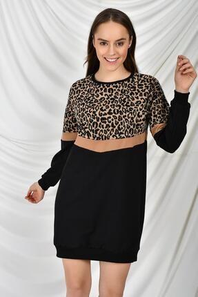 Tena Moda Kadın Leopar Leopar Tunik 2