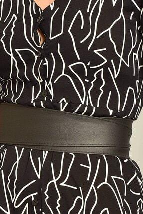 Modakapimda Siyah Kemerli Gömlek Elbise 1