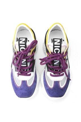 İlvi Beliz Bayan Spor Ayakkabı Mor Süet - Beyaz Deri - Siyah Deri - Sarı Deri 4