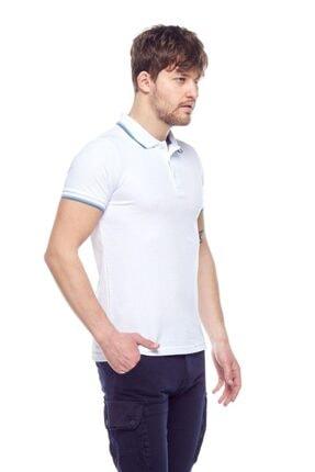 Tena Moda Erkek Beyaz Polo Yaka Tişört 1