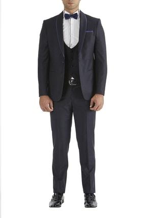 تصویر از 037 Slim Fit Lacivert Black Takım Elbise