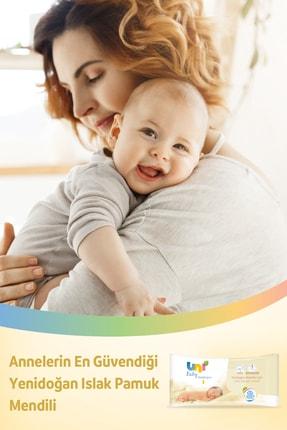 Uni Baby Yenidoğan Islak Pamuk Mendil 10'lu - 400 Yaprak 3