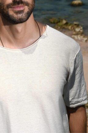 CHUBA Erkek Bisiklet Yaka Oversize Triko T-shirt 20s404 1